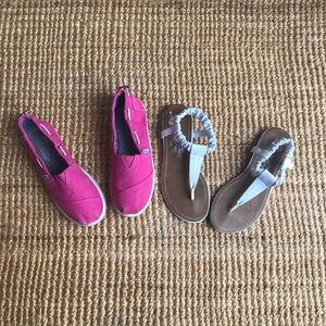 TWO PAIRS OF SUMMER SHOES
